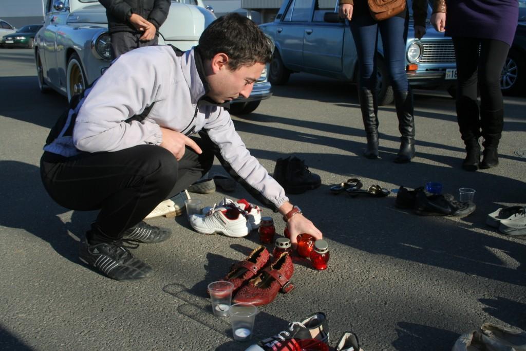 Сердце и туфли на Всемирный день памяти жертв ДТП Кадыров Русфет
