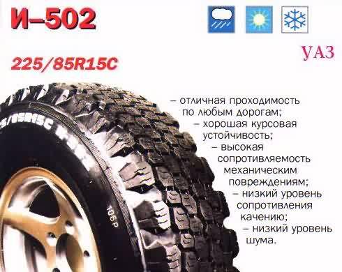 Резина на УАЗ i-502