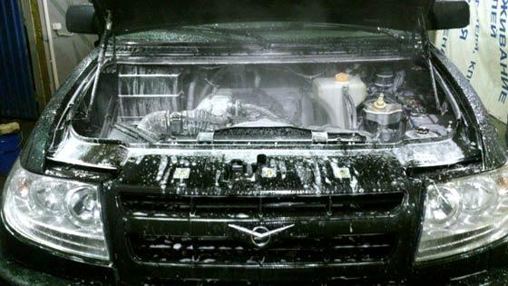 Мойка двигателя УАЗ