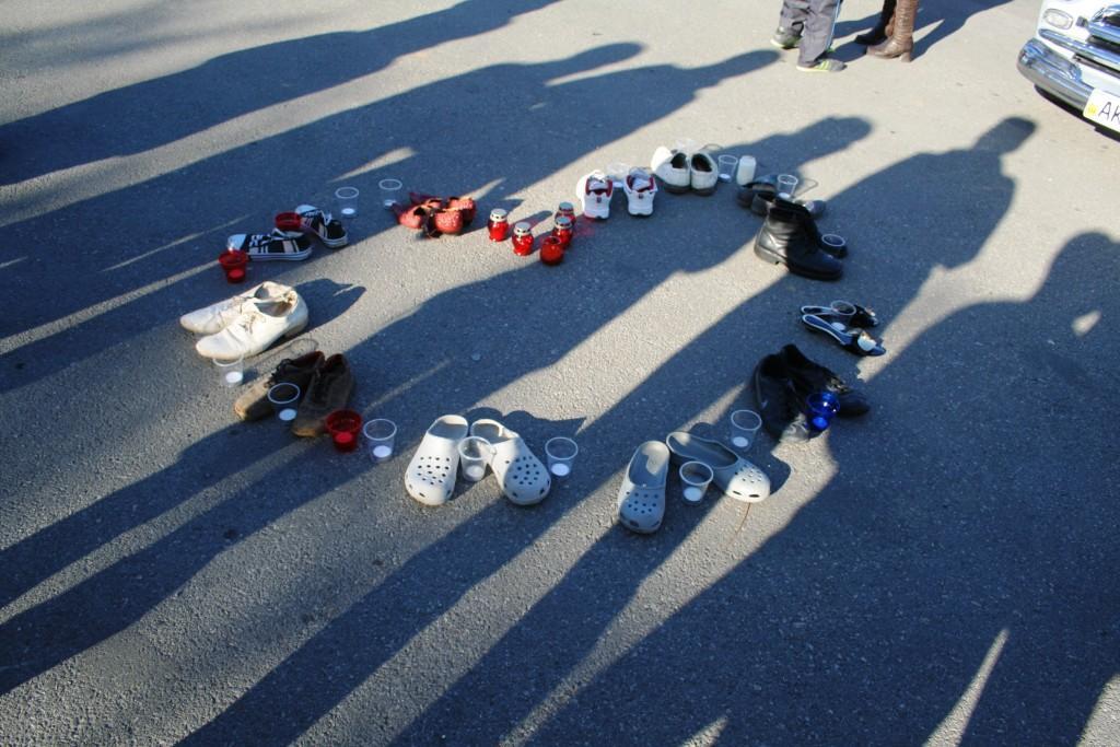 Сердце и туфли на Всемирный день памяти жертв ДТП